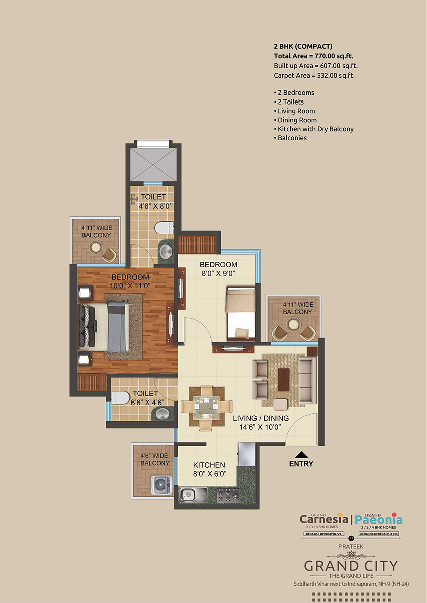 2 BHK (Small)